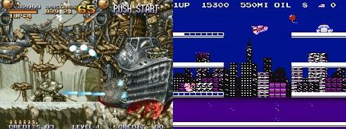 Metal Slug (NeoGeo) & City Connection (NES)