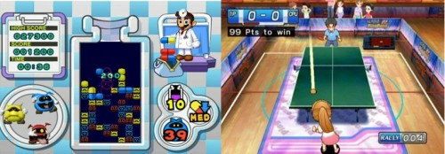 Dr Mario RX & Family Table Tennis - WiiWare