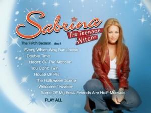 Sabrina The Teenage Witch Season 5 - DVD Menu