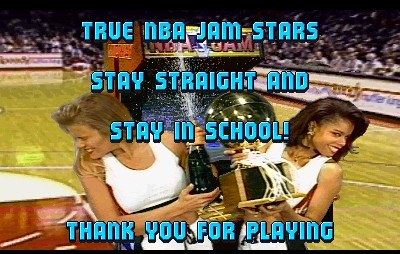 NBA Jam – Finish screen