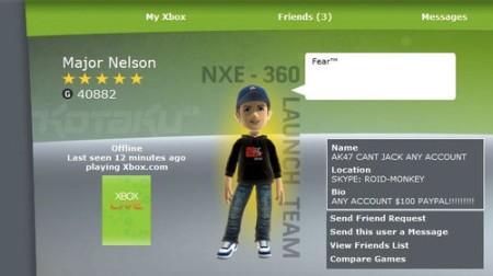 Hacks on Major Nelson